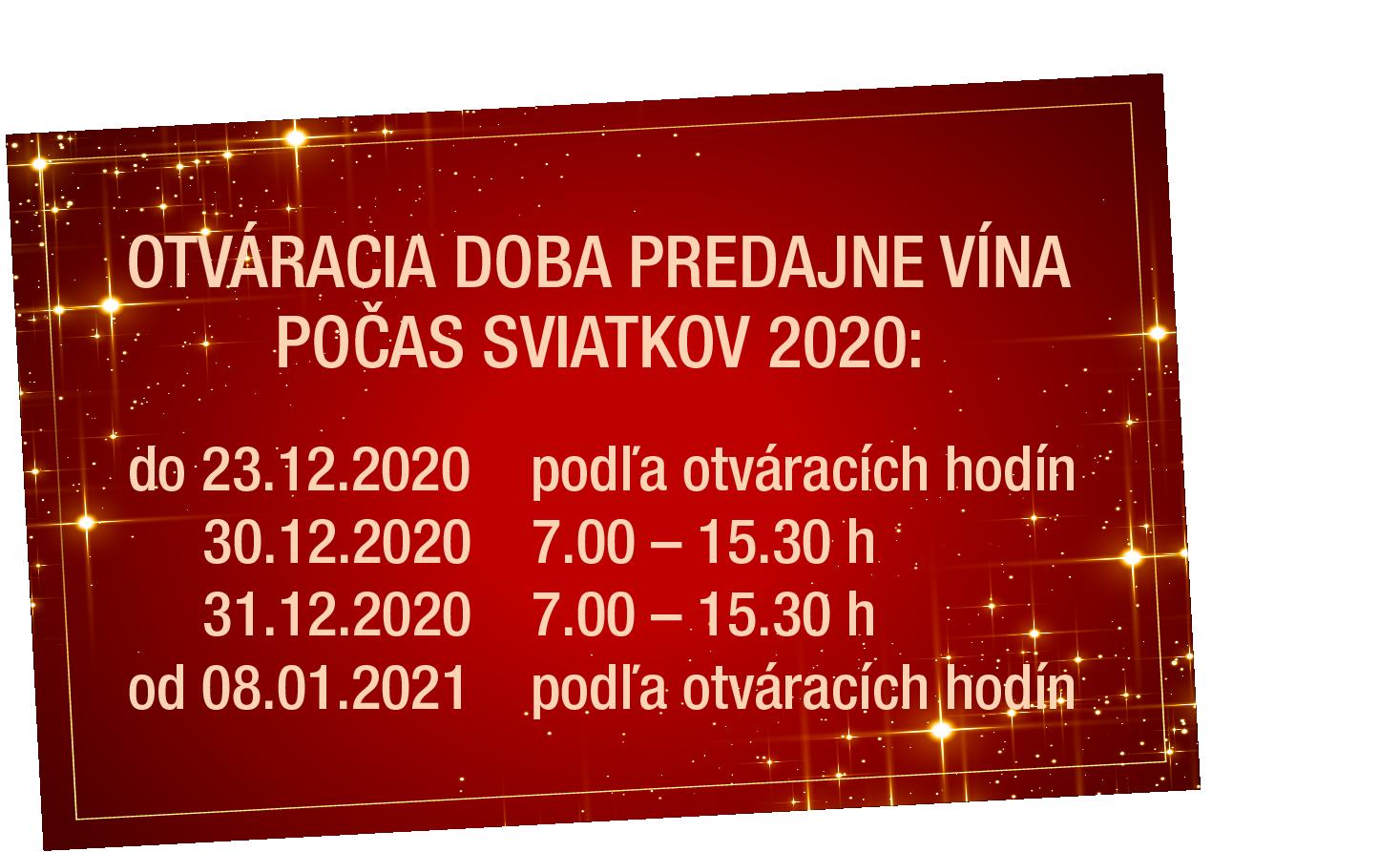Otváracie hodiny, apríl 2020
